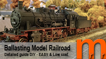 Tutorial How to ballast model railroad tracks without integreated road bed