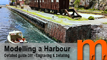 Video tutorial how-to model a harbour from scratch in H0-scale